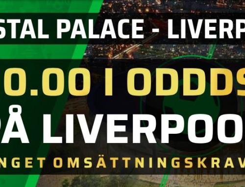 Superodds 20/8: Få 10.00 i odds på Liverpool – utan omsättningskrav!