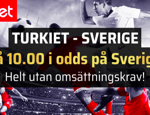 Superodds 17/11: Få 10.00 i odds på Sverige – utan omsättningskrav!