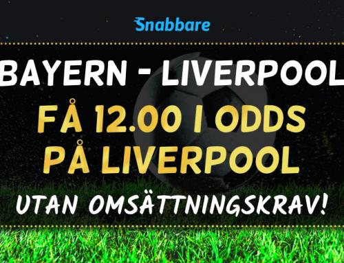 Superodds 13/3: Få 12.00 i odds på Liverpool att vinna – utan omsättningskrav!