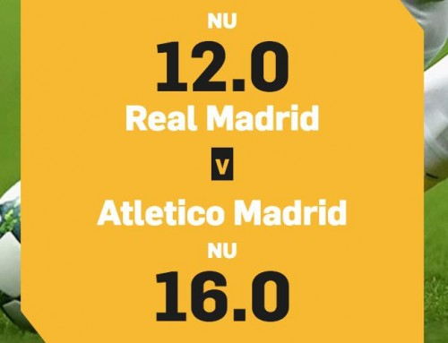 Superodds 15/8: Få 12.00 i odds på Real Madrid eller 16.00 på Atletico!