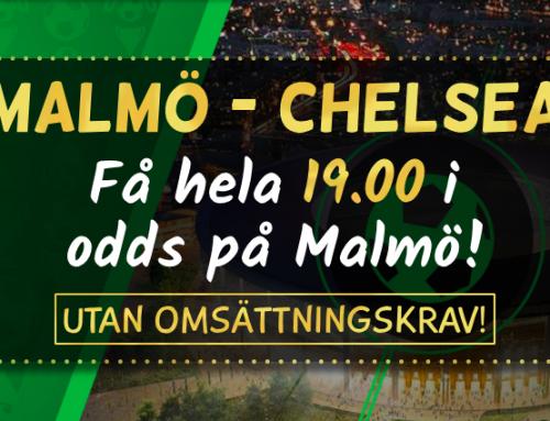 Superodds 14/2: Få 19.00 i odds på Malmö FF – utan omsättningskrav!