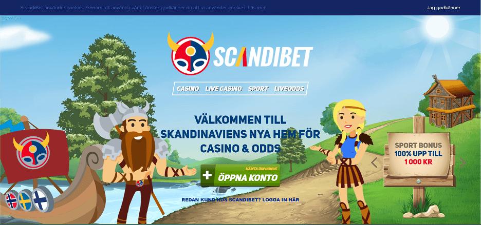 Scandibet-hemsida