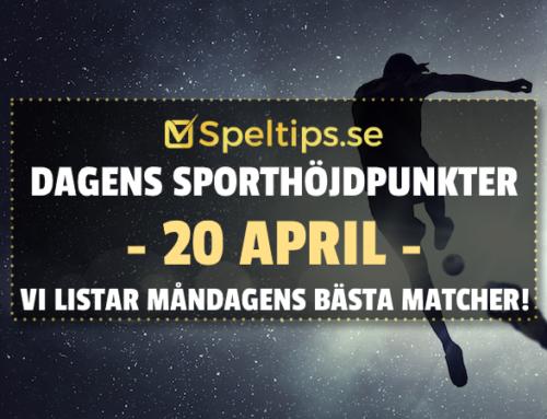 Sportevenemang 20/4: Måndagens höjdpunkter!