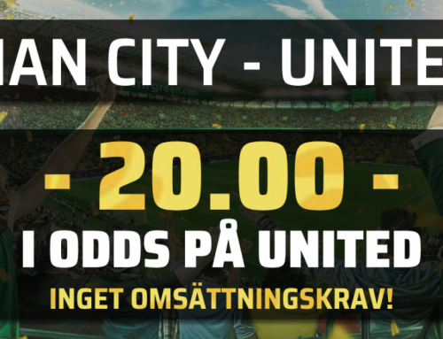 Superodds 11/11: Få 20.00 i odds på Man United – utan omsättningskrav!