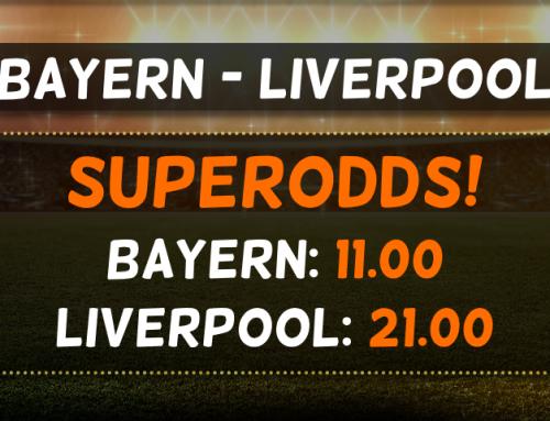 Superodds 13/3: Få 11.00 på Bayern eller 21.00 på Liverpool!