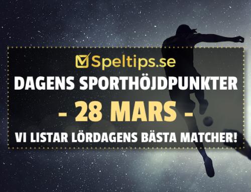 Sportevenemang 28/3: Lördagens höjdpunkter!