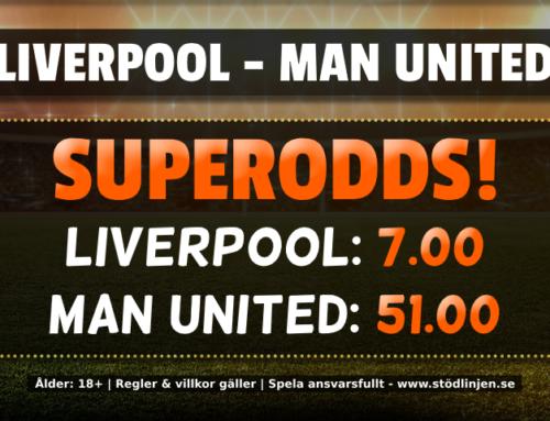 Superodds 19/1: 7.00 på Liverpool eller 51.00 på Man United!