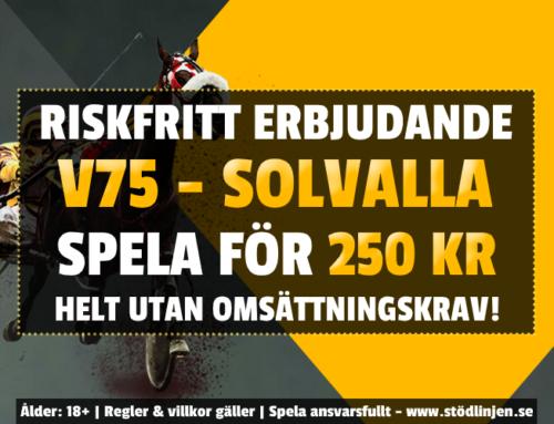 Riskfritt 30/5: 250 kr på trav – utan omsättning!