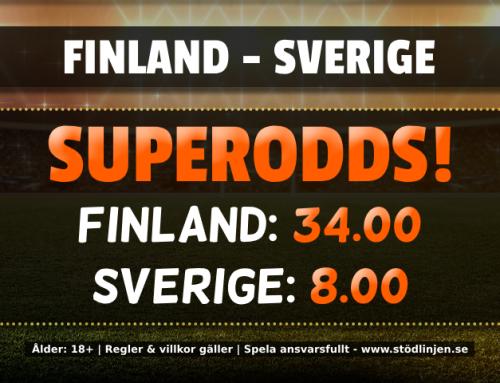Superodds 23/5: Få 34.00 på Finland eller 8.00 på Sverige i Hockey-VM!