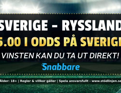 Superodds 21/5: Få 5.00 i odds på Sverige – ta ut vinsten direkt!