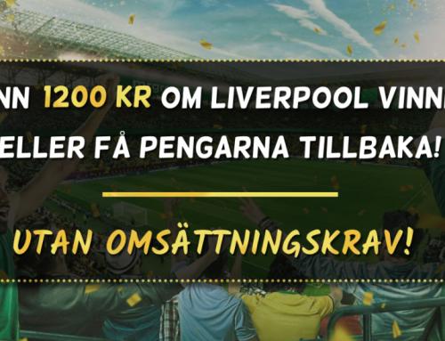 Försäkrat spel: Få 1200 kr eller pengarna tillbaka – utan omsättningskrav!