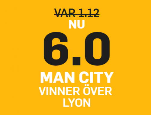 Superodds 19/9: Få 6.00 i odds på Man City mot Lyon!