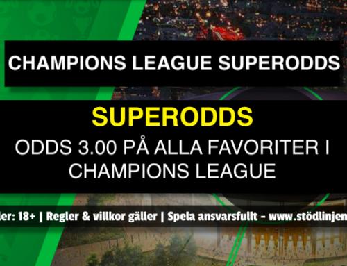 Champions League Superodds på Unibet