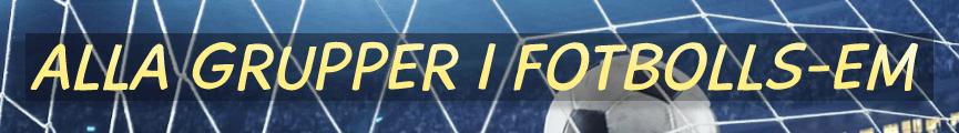 Alla grupper i Fotbolls-EM