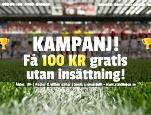 Kampanj: Få 100 kr – utan någon insättning!