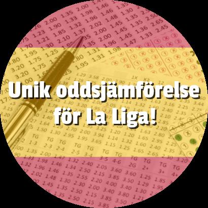 Komplett och unik oddsjämförelse för La Liga