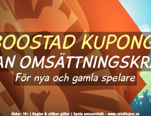 Boostad kupong för alla spelare – utan omsättning!