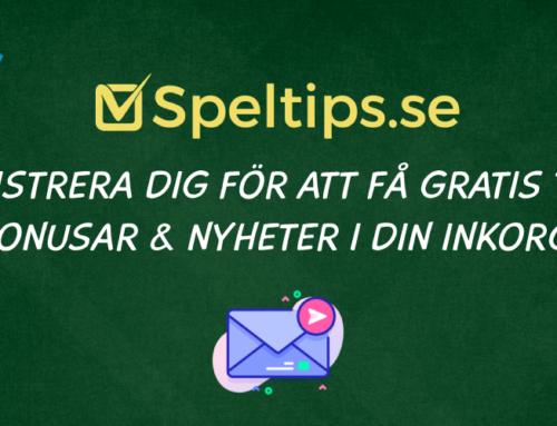 Nyhetsbrev från Speltips.se – registrera dig nu