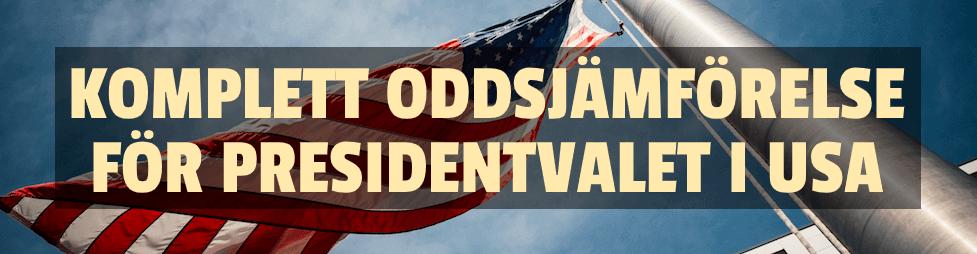 Komplett oddsjämförelse inför presidentvalet i USA 2020
