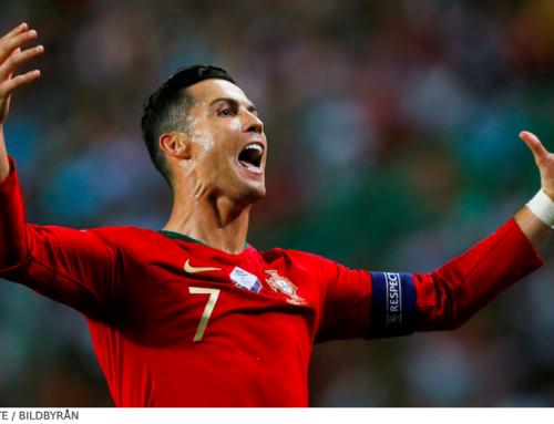 Dubbla mål av Ronaldo sänkte Sverige i Nations League