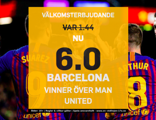 Superodds 16/4: Få 6.00 i odds på Barcelona mot Man United!