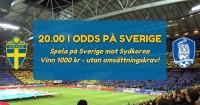 Sverige sydkorea ODDS