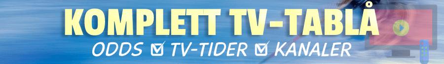 Komplett TV-tablå för Ishockey-VM