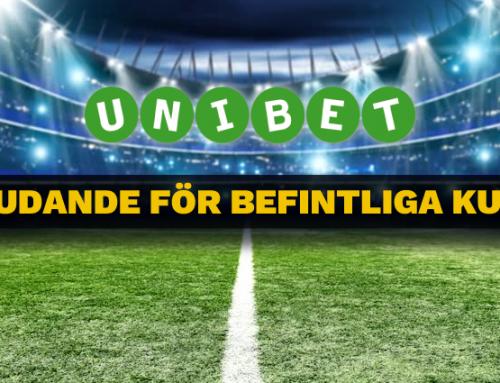 Unibet delar ut vinstboost i ALLA Sveriges matcher!