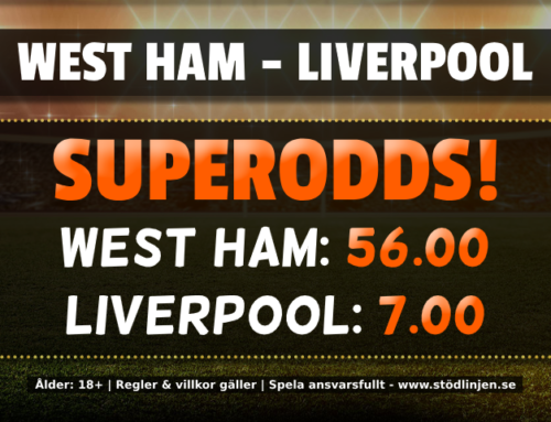 Superodds 29/1: 56.00 på West Ham eller 7.00 på Liverpool!