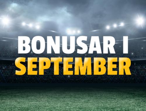 Bonus: De bästa bonusarna i September!