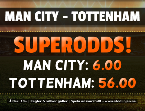Superodds 17/8: Få otroliga 56.00 i odds på Tottenham!
