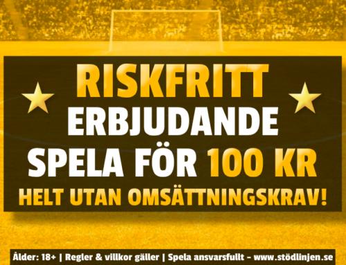 Riskfritt 28/10: 100 kr på Juventus-Barcelona – utan omsättning!