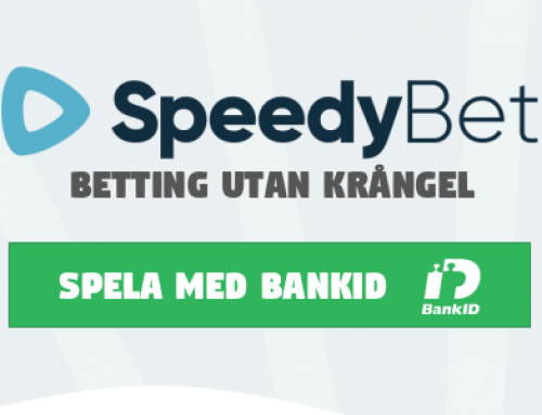 Nyhet: Spela med Bank-ID och få pengarna på 5 minuter hos SpeedyBet!